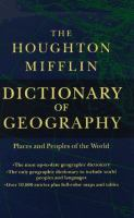 The Houghton Mifflin Dictionary of Geography