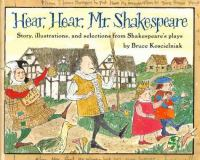 Hear, Hear, Mr. Shakespeare