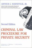 Criminal Law Procedure for Private Security
