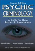 Psychic Criminology
