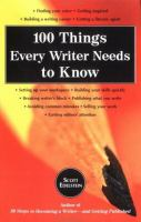 100 Things Every Writer Needs to Know