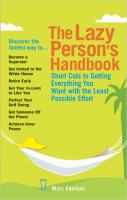 The Lazy Person's Handbook