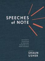 Speeches of Note