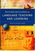 Routledge Encyclopedia of Language Teaching and Learning