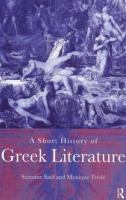 A Short History of Greek Literature