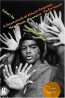 A Sourcebook of African-American Performance