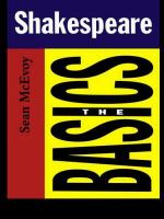 Shakespeare--the Basics