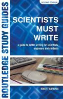 Scientists Must Write