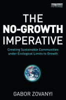 The No-growth Imperative