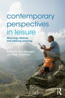 Contemporary Perspectives in Leisure