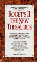Roget's II : The New Thesaurus