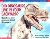 Did Dinosaurs Live in your Backyard?