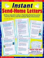 Instant Send-home Letters