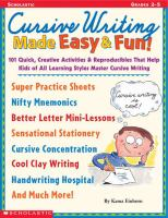 Cursive Writing Made Easy & Fun!