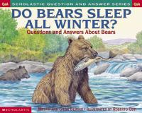 Do Bears Sleep All Winter?