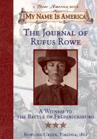 The Journal of Rufus Rowe