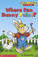 Where Can Bunny Paint?