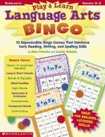 Play & Learn Language Arts Bingo