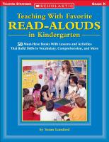 Teaching With Favorite Read-alouds in Kindergarten