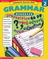 Scholastic Success With Grammar Workbook