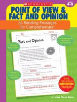 Point of View & Fact and Opinion