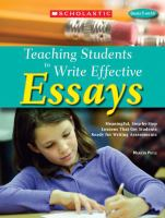 Teaching Students to Write Effective Essays