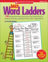 Daily Word Ladders, Grades 4-6
