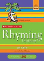 Scholastic Rhyming Dictionary