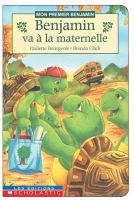 Benjamin Va A La Maternelle