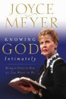 Knowing God Intimately