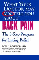 What your Doctor May Not Tell You About Back Pain