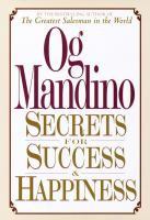 Secrets for Success and Happiness