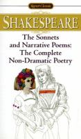 The Sonnets, And, Narrative Poems