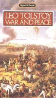 War And Peace ; Translated By Ann Dunnigan ; With An Introduction By John Bayley