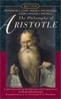 The philosophy of Aristotle : a selection