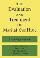The Evaluation and Treatment of Marital Conflict