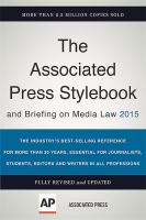 Associated Press Stylebook and Briefing on Media Law, 2015