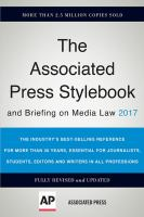 The Associated Press Stylebook 2017 and Briefing on Media Law