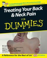 Treating your Back & Neck Pain for Dummies
