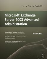 Microsoft Exchange Server 2003 Advanced Administration