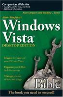Alan Simpson's Windows Vista Bible Desktop Edition