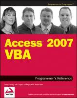 Access 2007 VBA Programmer's Reference