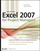 Excel 2007 for Project Managers