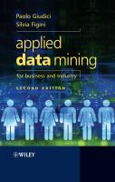 Applied Data Mining for Business and Industry, Second Edition