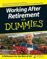 Working After Retirement for Dummies