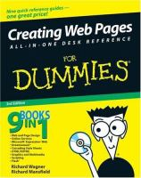 Creating Web Pages All-in-one Desk Reference for Dummies, 3rd Edition