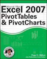 Excel 2007 PivotTables and PivotCharts