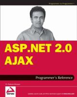 ASP.NET Ajax Programmer's Reference With ASP.NET 2.0 or ASP.NET 3.5