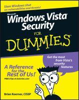 Windows Vista Security for Dummies