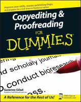 Copyediting & Proofreading for Dummies